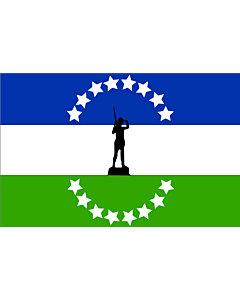 Flag: Rio negro no oficial | Usada extraoficialmente en la provincia de rio negro