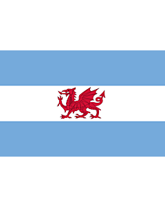 Flag: Puerto Madryn and the Welsh colony in Patagonia