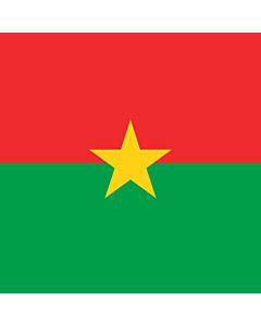 Flag: Presidential Standard of Burkina Faso