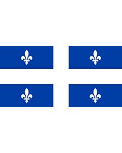 Flag: Quebec with ratio 1 2