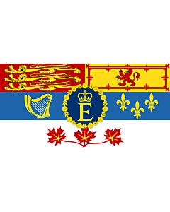 Flag: Queen Elizabeth II for personal use in Canada  1962–present