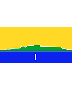 Flag: An approximation of the flag of the City of Thunder Bay