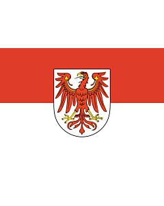 Flag: Brandenburg
