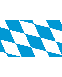 Flag: The lozengy variant of the flag of Bavaria