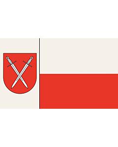 Flag: Schwerte | Beschreibung der Flagge  Der Stadt ist ferner mit Urkunde des Regierungspräsidenten in Arnsberg vom 18.02.1977 das Recht zur Führung einer Flagge verliehen worden