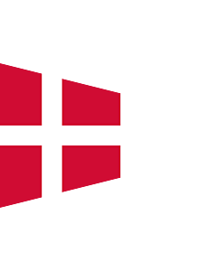 Flag: Danish naval rank flag for the Chief of Squadron