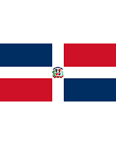 Flag: Naval Ensign of the Dominican Republic