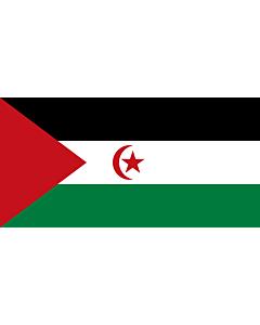 Flag: Western Sahara