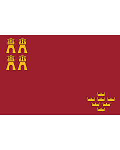 Flag: Autonomous Community of the Region of Murcia