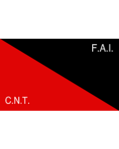 Flag: CNT-FAI | Rossonera utilizzata dalla CNT-FAI  confederaciòn nacionàl de los trabajadores - federaciòn anarquista iberica