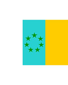 Flag: Siete Estrellas Verdes | Esta es la bandera nacionalista canaria