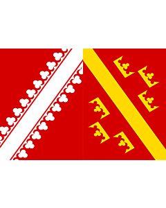 Flag: Historical flag of Alsace, France