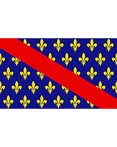 Flag: French province of Bourbonnais