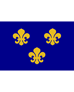 Flag: Medieval France | Present day s Île-de-France In 1328, the coat-of-arms of the House of Valois was blue with gold fleurs-de-lis bordered in red