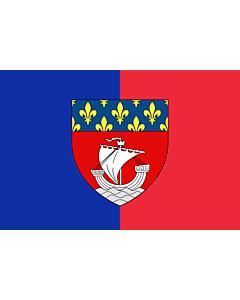 Flag: Paris with shield | Vectorized image of the FOTW site flag of Paris