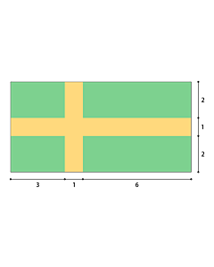 Flag: Geometric construction of the flag of the City of Pula