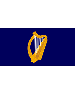 Flag: Presidential Flag of Ireland with alternate official state harp design