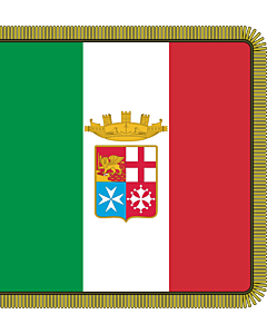 Flag: Front of the combat flag of the Italian Navy