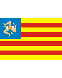 Flag: Frunti Nazziunali Sicilianu (Sicilian National Front), a Sicilian independentist party