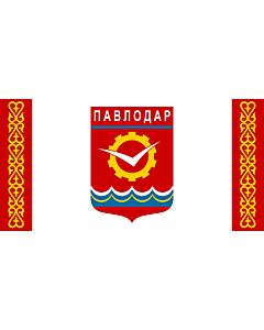 Flag: Pavlodar, Kazakhstan