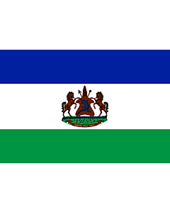 Flag: Royal Standard of Lesotho from October 4, 2006
