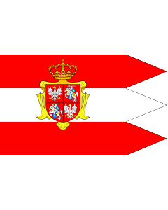 Flag: Royal banner  not a flag  of the Polish-Lithuanian Commonwealth  during the reign of the House of Vasa   1587-1668  but without any symbols of the House of Vasa and Polish-Swedish personal union