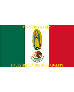 Flag: Such as this one were used by the Cristeros when resisting the secular government forces in the  Cristero War