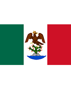Flag: First Mexican Empire