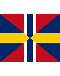 Flag: Union Jack of Sweden and Norway 1844-1905