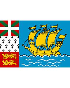 Flag: Saint Pierre and Miquelon
