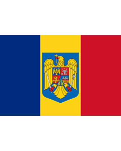 Flag: Romania with the coat of arms