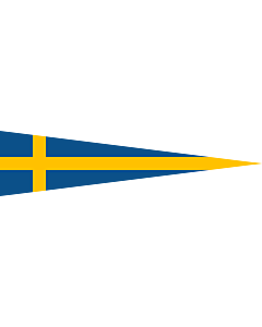Flag: Swedish naval rank flag for a Division Commander