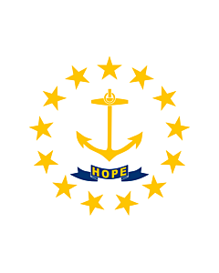 Flag: State of Rhode Island and Providence Plantations