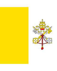 Flag: Holy See (Vatican City State)