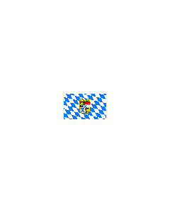Flag: Bavaria lozenges with emblem