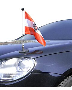 Magnetic Car Flag Pole Diplomat-1 Austria with coat of arms