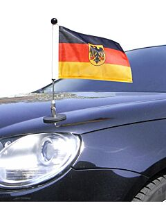 Magnetic Car Flag Pole Diplomat-1 Germany with coat of arms