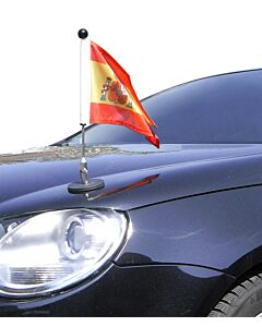Magnetic Car Flag Pole Diplomat-1.30 Spain with coat of arms