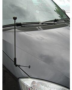 Car Flag Pole Diplomat-Z-Black