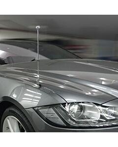 Car Flag Pole Diplomat-Z-Chrome-PRO-Jaguar-XF-X260  for Jaguar XF (X260) (2015-)